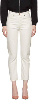Citizens of Humanity White Charlotte Crop High-Rise Straight Jeans