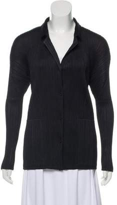 Pleats Please Issey Miyake Pleated Button-Up Top