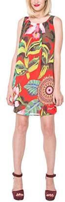 Desigual Women's Elena A-Line Sleeveless Dress,Size 8 (Manufacturer Size:36)