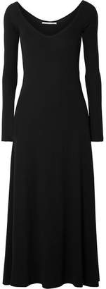 Rosetta Getty Cotton-jersey Midi Dress - Black