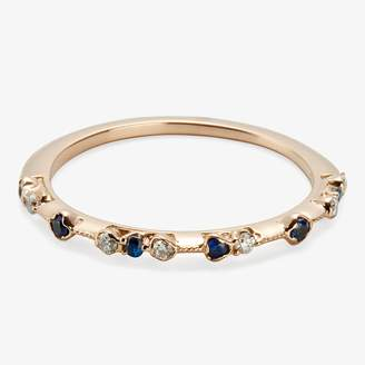 Kataoka Dotted Band Ring Diamonds, Blue Sapphires, Gold