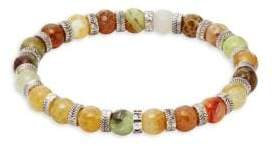 Multi-Color Agate Beaded Bracelet
