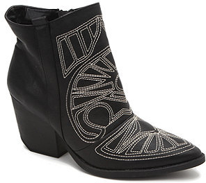 Qupid Embroidered Newton Ankle Boots