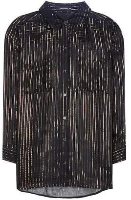 Kate Moss for Equipment Striped silk shirt