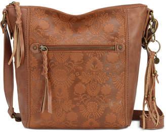 The Sak Ashland Leather Floral Crossbody