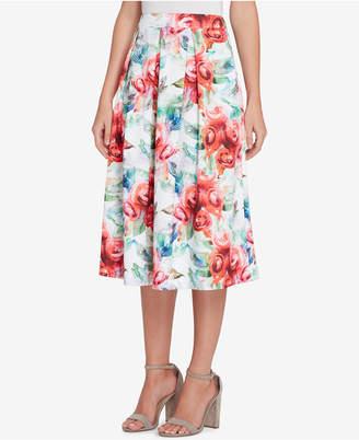 Tahari ASL Floral-Print Scuba Skirt, Regular & Petite