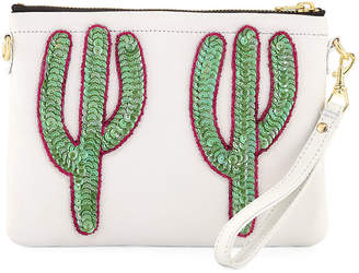 Tea & Tequila Duo Cacti Clutch Bag, White