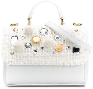 Dolce & Gabbana crystal embellished shoulder bag