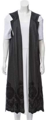 eskandar Embroidered Wool Vest