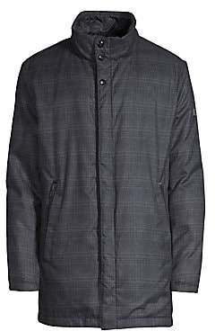 Bugatti Men's Plaid Coat
