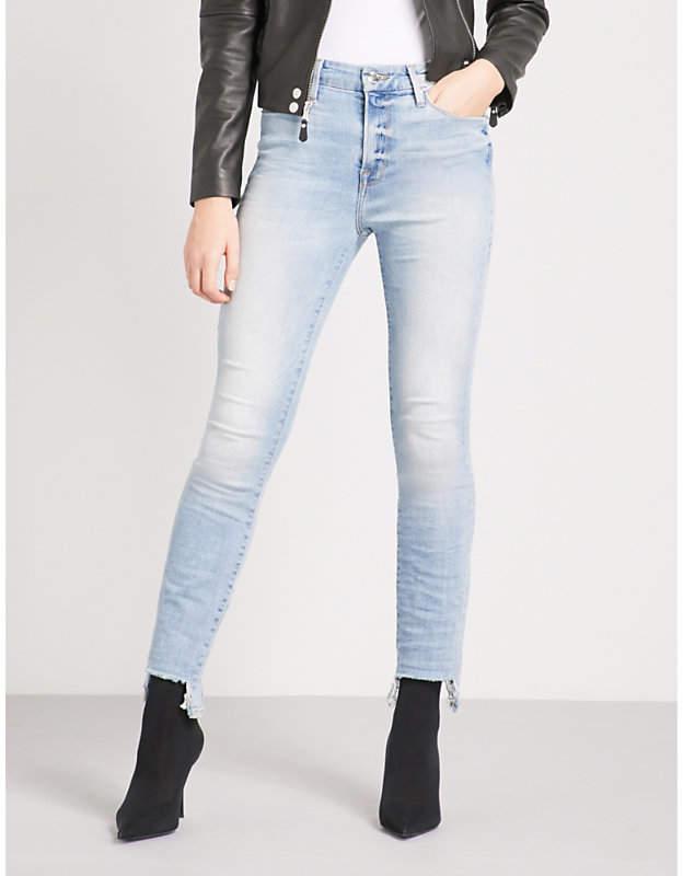 Good Legs Tunnel Hem skinny high-rise jeans