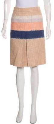 Tory Burch Woven Knee-Length Skirt