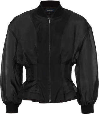 Cushnie et Ochs Zamora Sheer Cropped Jacket