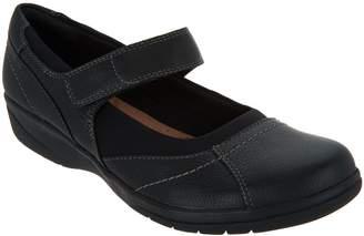 Clarks Tumbled Leather Adjustable Mary Janes - Cheyn Web