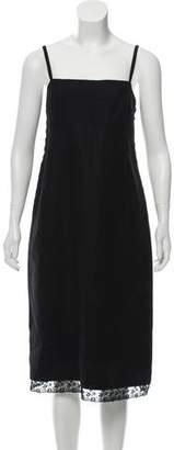 Prada Virgin Wool Midi Dress