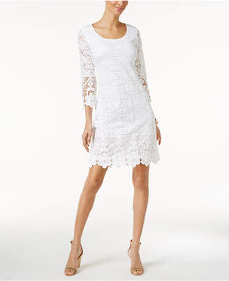 Alfani Crochet-Trim Illusion Dress