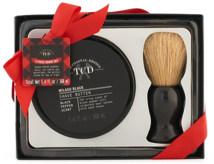 Tri Coastal Design Tri-Coastal Design Men's Milgau Black Shave Butter & Brush Set