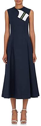 Calvin Klein Women's Cotton-Silk Cady A-Line Dress - Navy