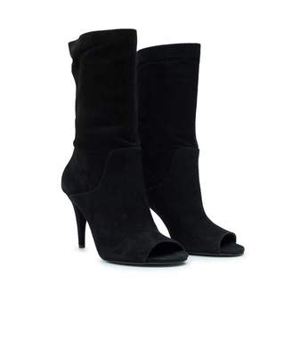 Michael Kors Elaine Open Toe Booties Colour: BLACK, Size: UK 4