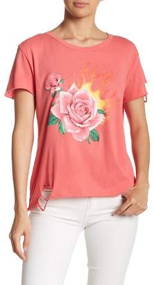 Wildfox Couture Rose Blaze Graphic Print Tee