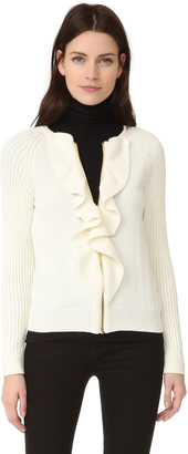 Boutique Moschino Long Sleeve Cardigan $595 thestylecure.com
