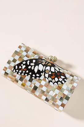 Serpui Marie Farah Butterfly Box Clutch