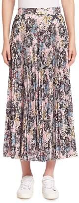 A.L.C. Women's Williams Silk Pleated Midi Skirt