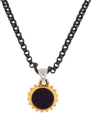 Eddie Borgo Druzy Challenge Pendant Necklace