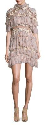 Zimmermann Stranded Tier Silk Dress $2,650 thestylecure.com