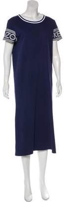 Kenzo Short Sleeve Midi Dress