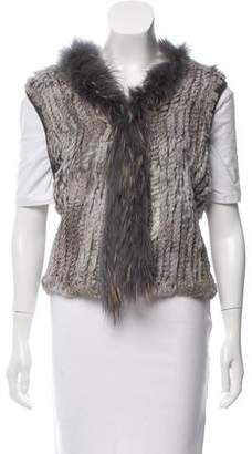 What Goes Around Comes Around Knitted Rabbit Fur Vest