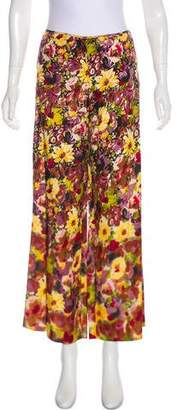Jean Paul Gaultier Floral Printed Mid-Rise Pants