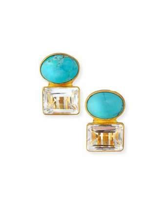 Dina Mackney Turquoise & Quartz Earrings