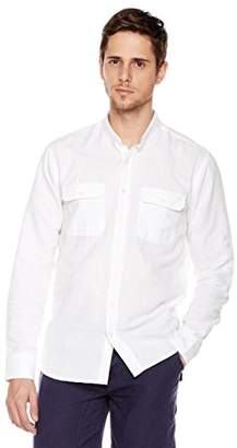 Isle Bay Linens Standard-Fit Long-Sleeve Work Shirt L