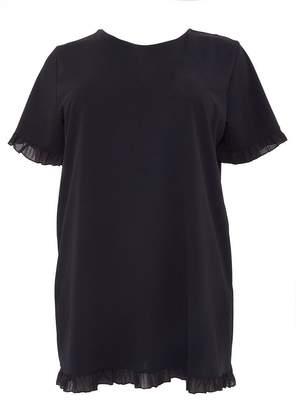 Quiz Curve Black Frill Tunic Dress