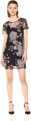MinkPink Women's Metallique Mesh Overlay Dress