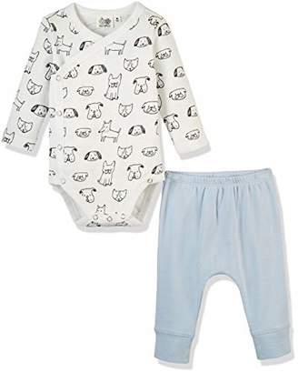 Silly Apples (030) Baby Unisex Pure Cotton 2-Piece Long-Sleeve Bodysuit Onesies and Pant Outfit Set ()