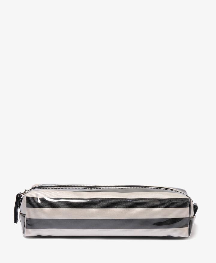 Forever 21 Striped Rectangular Cosmetic Bag