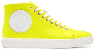 Versus Yellow Lion High-Top Sneakers