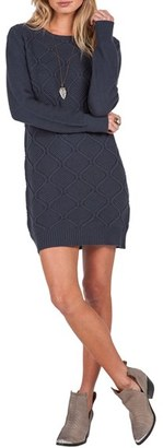 Volcom Chained Down Cable Sweater Dress $59.50 thestylecure.com