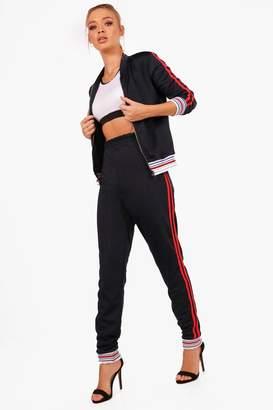 boohoo Kaydee Athleisure Sports Stripe Tracksuit