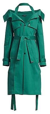 artica-arbox Women's Halter A-Line Trench Dress