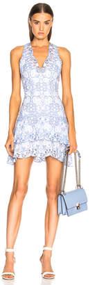 Jonathan Simkhai Scallop Tiered Mini Dress