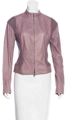 Alexander McQueenAlexander McQueen Leather Zip-Front Jacket