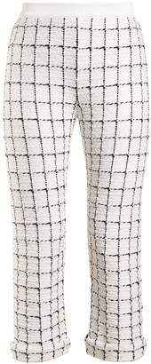 Balmain Mid-rise checked trousers