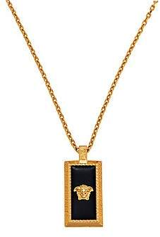 Versace Men's Medusa Head Rectangle Pendant Necklace