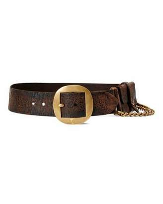 Ralph Lauren 50th Anniversary Golden-Chain Full-Grain Cow Leather Belt
