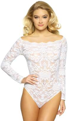 Jezebel Women's Eliza Off Shoulder Lace Bodysuit