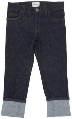 Gucci Web Detail Stretch Cotton Denim Jeans