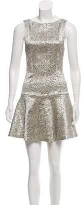 Alice + Olivia Brocade Flounce Dress